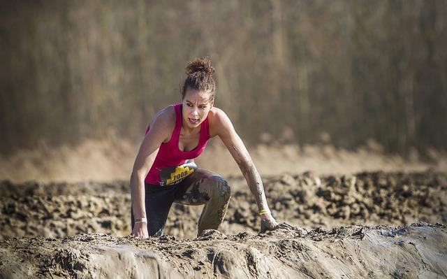 Woman doing Tough Mudder