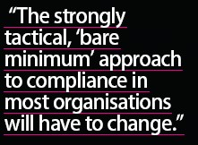 approach to data compliance needs to change