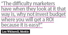 invest marketing budget for roi