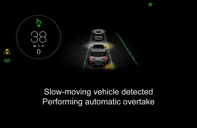 Display screen of an autonomous car