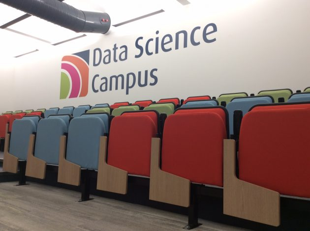 Lecture theatre seats at the Data Science Campus of the ONS