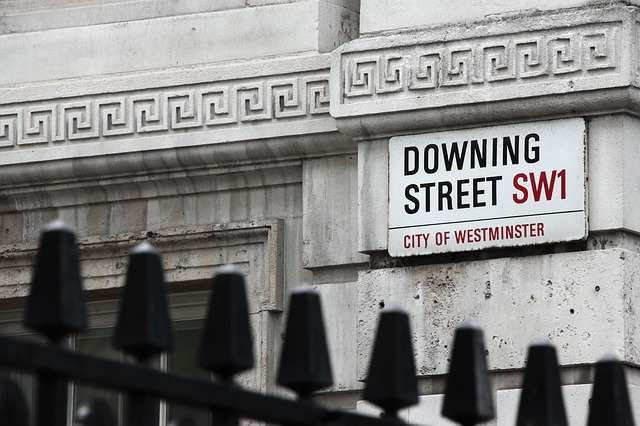 Picture of Downing Street sign