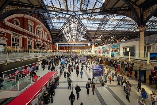 Liverpool Street train station London concourse