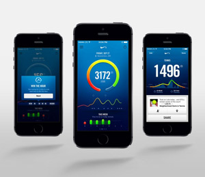 Image: Nike Fuel Band app on iPhone