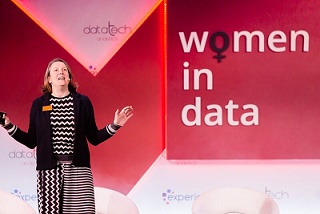 Helen Hunter group CDO of Sainsbury's speaking at Women in Data